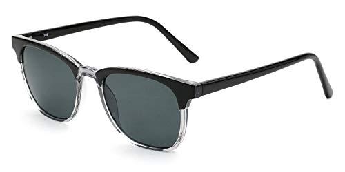 Wayfarer-Sonnenbrille für Damen & Herren, leichter Kunststoffrahmen, inkl. Vorteilscode für Gläser in Sehstärke (Gleitsicht/Einstärke) - Modell 19210P-402