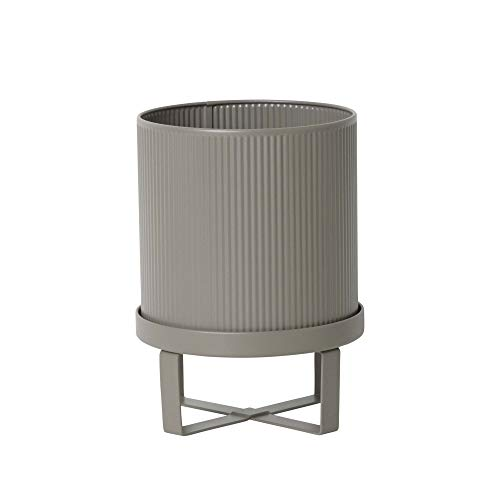 Ferm Living BAU 4188 - Top per piante, in acciaio zincato verniciato a polvere, colore: grigio caldo, diametro 18 cm, altezza 24 cm
