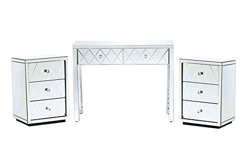 My-Furniture – Tocador de Espejo y Dos mesillas de Noche – Gama Knightsbridge