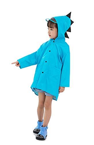 D C.Supernice - Chubasqueros ligeros para niños y niñas con forma de dinosaurio con capucha y bolsa de almacenamiento portátil