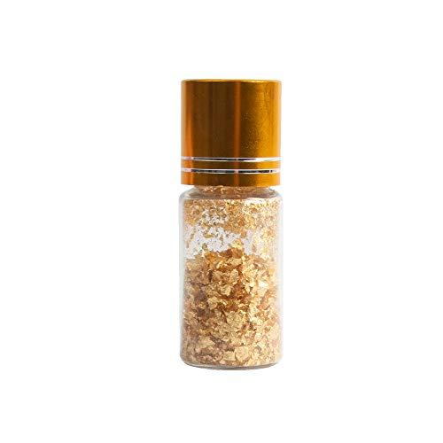 VGSEBA Essbare echte 24 Karat Blatt-Goldflocken, 50 mg echte kleine Goldflocken für Gesundheit & Spa, Gesichtsmaske, dekorative Gerichte Kochen, Kuchen & Schokolade Dekoration