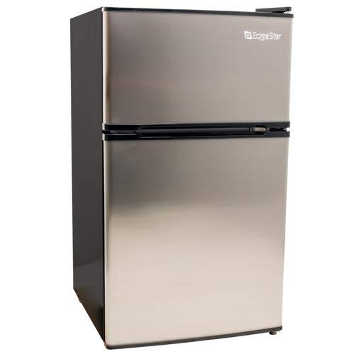 EdgeStar CRF321SS 3.1 Cu. Ft. Dorm Sized Energy Star Compact Fridge/Freezer