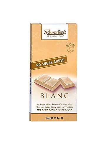 Schmerling - Chocolat blanc sans sucre - 100g - Lot de 5