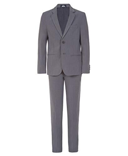 Arrow 1851 Boys Aroflex Stretch 2-Piece Formal Suit Set, Grey Heather, 14 Husky