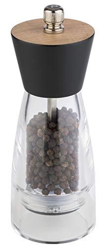 """APS Pfeffermühle """"Frida"""" – Premium Pfeffermühle mit einem Mahlwerk aus Carbonstahl und Holzdeckel – Der Mahlgrad ist stufenlos einstellbar 6 x 15,5cm"""