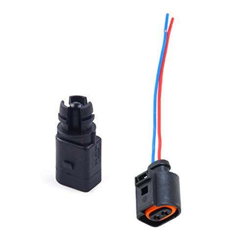 beler Umgebungslufttemperatursensor & Elektrischer 2-Pin-Stecker Stecker Kabelbaum