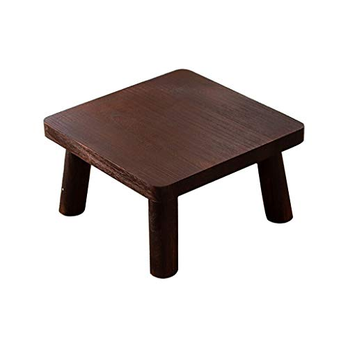 NYKK End Tables Simple Wooden Coffee Table Square Small Table (Brown and Natural) End Table Nightstand Set (Color : Brown, Size : 36cm)