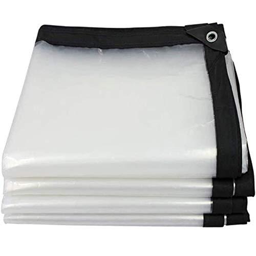 FOGUO Lona De Proteccion Transparente2x9m, Lona Impermeable Transparente Exterior, Lona Transparente para Invernadero, Resistente a Los Rayos UV, con Ojales, Toldo Reforzado