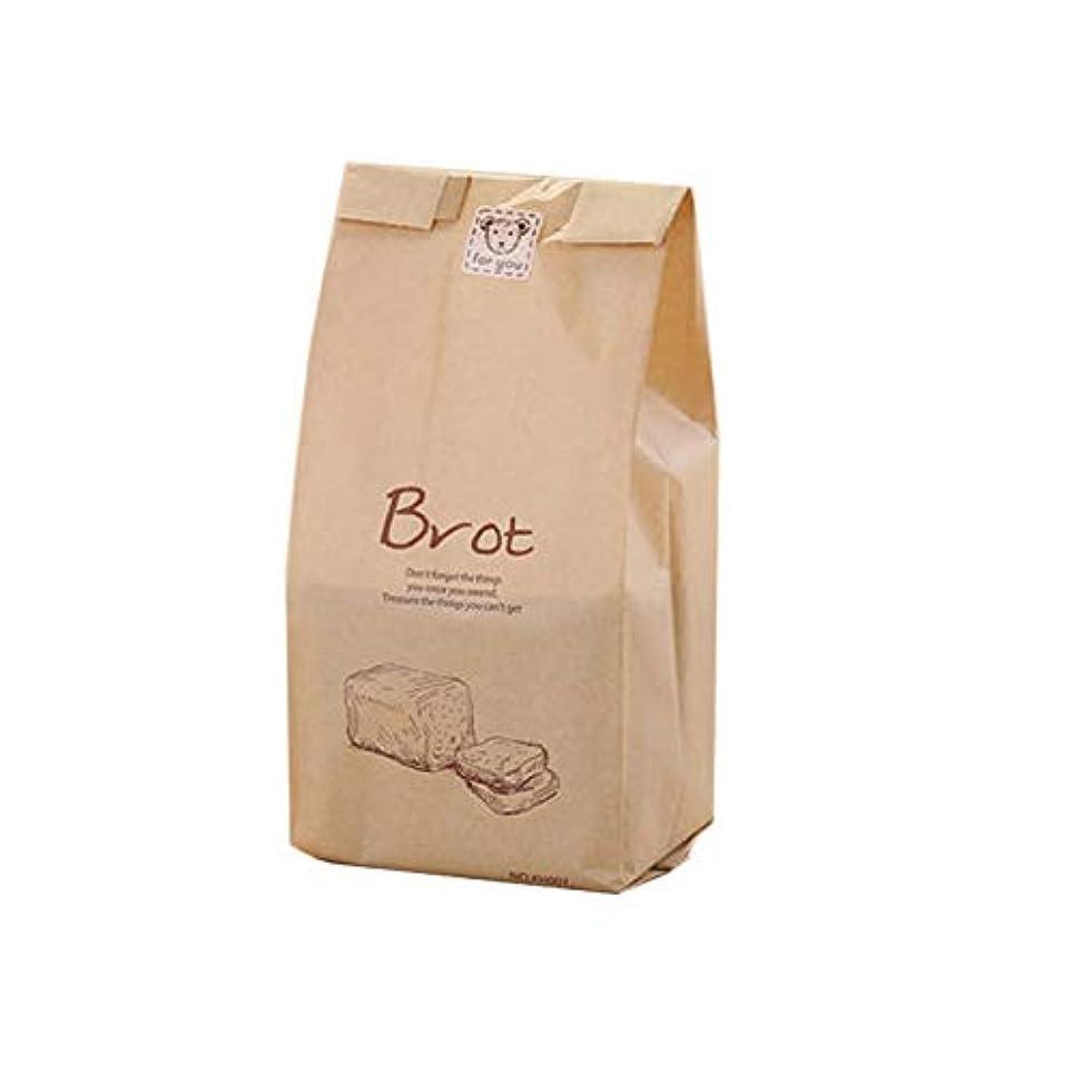 樫の木ビーチなめるMonland パンバッグ、ストレージフードパンビスケット、ポップコーントースト用、透明紙袋入り、クラフトスナックバッグ(100個)
