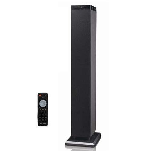 Majestic TS 92R CD BT USB AX - Altoparlanti a torre con Bluetooth NFC, Lettore CD/MP3, doppia USB, ingresso AUX-IN, telecomando, Nero