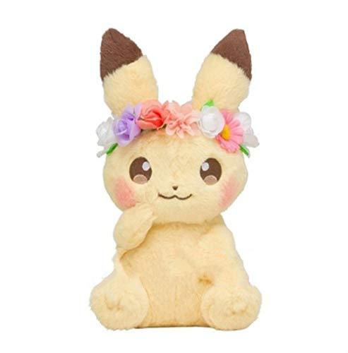 Kshong Anime-Spiele Pokemon Plüschtier Pikachu Serie Spielzeug 18 cm,Osterblume Pikachu Maskottchen Niedliche Weiche Plüschpuppe Babyspielzeug Geburtstagsgeschenk