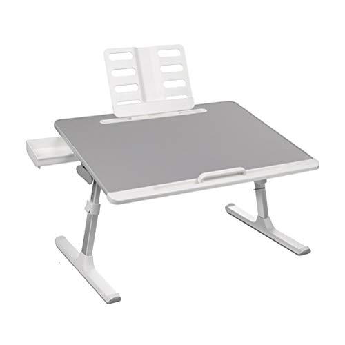 ZXCVBNM Mesa móvil para sobrecama, mesa para portátil, mesa de cama, mesa de cama, mesa de juegos en la cama, mesa con ruedas sobre la cama (color de lujo)