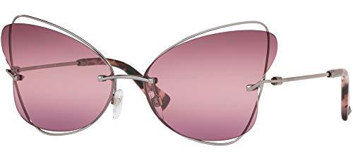 Valentino Gafas de sol VA2031 3005W9 metálica de color rosa de tamaño de 64 mm de gafas de sol de las mujeres