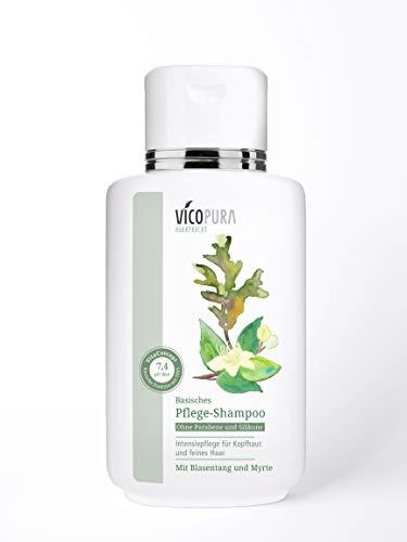 VICOPURA basisches Shampoo pH 7, 4, Pflegeshampoo, Volumenshampoo, Basenshampoo, Silikonfreies Haarshampoo, 250 ml