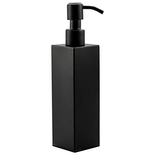 Frap Seifenspender Modern Zubehör Spülbecken Shampoospender Spülmittelspender für Küche Flüssigseifen-Spender fürBad Dusche, Schwarz
