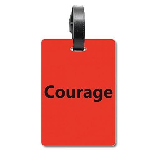 Etiqueta de identificación para Maleta con Frase inspiradora de Courage Word