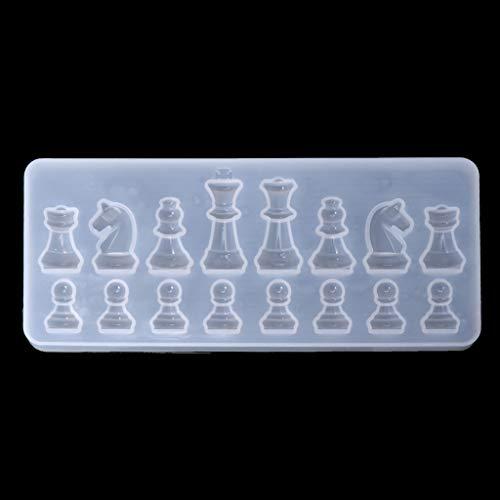 Xuniu Molde Silicona Forma ajedrez Internacional DIY