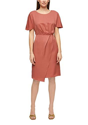 s.Oliver BLACK LABEL Damen Tailliertes Kleid mit Raffung dusty apricot 42