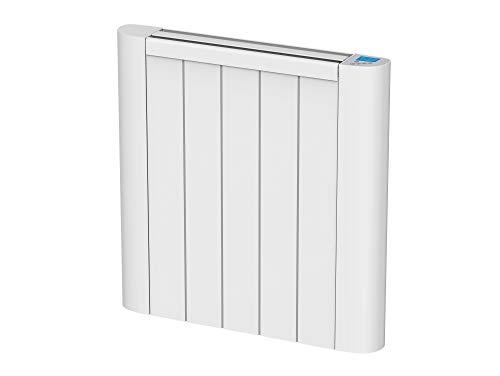 Emisor termico de inercia digital con placa ceramica,pantalla LCD, programador semanal y control WIFI serie CERAMIC S de PURLINE (900 W)