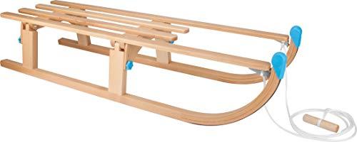 Nijdam houten slee opvouwbare slede, beuken