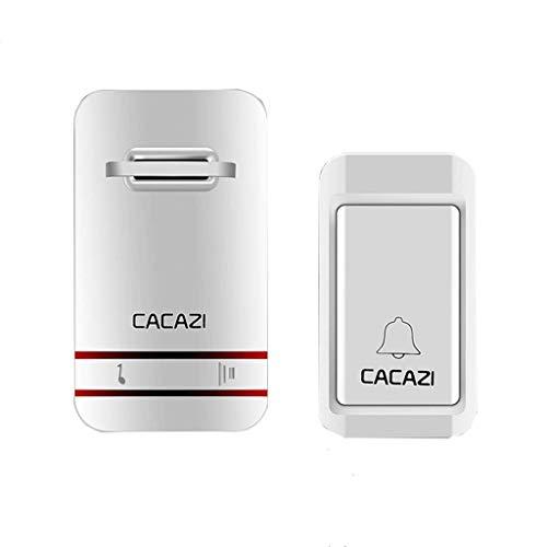 Deurbel, waterdichte draadloze deurbel Chime Kit met 38 muziek; 400 ft, met geluid & LED Flash deurbel voor thuis (2 ontvanger & 1 drukknop) B