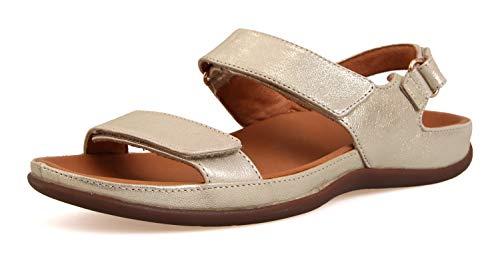 Strive Footwear Kona Stilvolle orthopädische Sandalen, Gold - metallic-goldfarben - Größe: 39 EU
