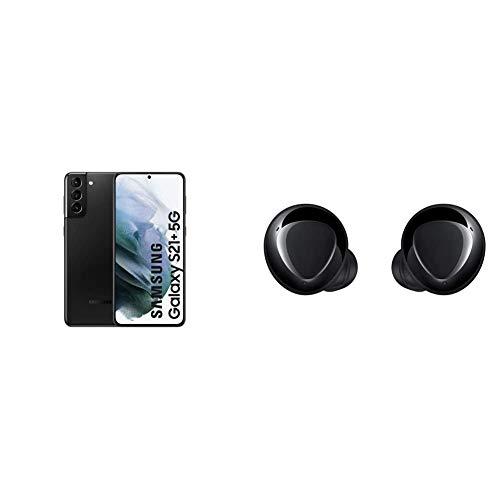 Samsung Galaxy S21+ 5G Smartphone Android Libre, Pantalla de 6.7' FHD+ 120Hz Dynamic AMOLED, Color Negro [Versión española] + Samsung Galaxy Buds+ - Auriculares Inalámbricos, Color Negro