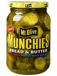 Mt Olive Munchies (Bread & Butter) 16 oz Jar