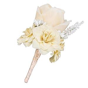 Segolike Silk Rose Flower Wedding Corsage Groom Bridal Wedding Boutonniere