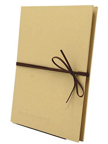 Smiling Art Fotoalbum 18 Seiten (34 Blatt) zum selbst gestalten/basteln, zum einkleben, DIY Scrapbook, Deckblatt aus Harter Pappe, Beige Seiten, mit Zubehör Kit