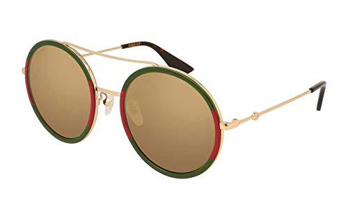 Gucci GG0061S 012 Gafas de sol, Dorado (12/Gold), 56 para Mujer