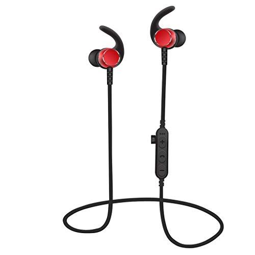 SMCZH Auriculares Bluetooth, auriculares estéreo inalámbricos para deportes, auriculares inalámbricos a prueba de agua IPX6 Auriculares magnéticos deportivos con 8 horas de tiempo de reproducción (a p