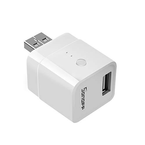 Adaptador USB Inteligente Convertidor USB Interruptor Inteligente WiFi Inalámbrico para Dispositivo USB tipo A con APP Control Remoto y Voz compatible con Amazon Alexa, Google Assistant, Nest
