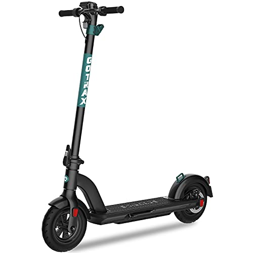 Gotrax G Max Ultra Commuting Electric Scooter - 10  Air Filled Tires - 20MPH & 45 Mile Range (Black)