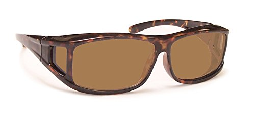 Coyote Eyewear OTG-PFS Polarized Floating Fitover Sunglasses, OTG-PFS Tortoise/Brown
