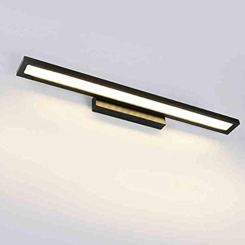 Vordere Scheinwerfer, Spiegel Badezimmer Wand Lampe LLamps Einfache, moderne Wc wasserdicht Spiegel Beleuchtung Schwarz (Farbe  warmes Licht -40 cm)