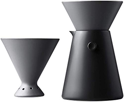 DFGER Caffettiere all'Inglese Caffettiera in Ceramica gocciolamento, pentola di condivisione Tazza Filtro, caffettiera Fatta a Mano Set per Uso Domestico per Ufficio