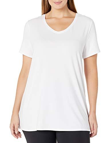 Amazon Essentials Plus Size Tech Stretch Short Sleeve V-Neck T-Shirt Fashion-t-Shirts, Blanco, 5X