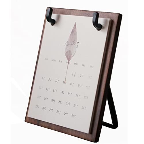 Hsjx 2022 Desk Calendar,Family Calendar 2022 Runs Mid-Jan22-Dec.2022 Calendar Family Planner with Lists,Pocket Stickers(Color:B)