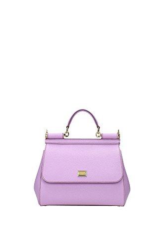 Borse a Mano Dolce&Gabbana Donna Pelle Rosa Baby e Oro BB6002A100180469 Rosa 12x21x26 cm