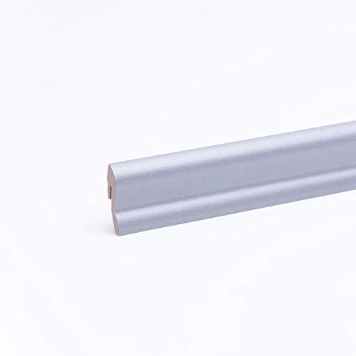 Sockelleiste - Fußleiste 40 x 22 x 2.600mm Dekor Edelstahl Optik