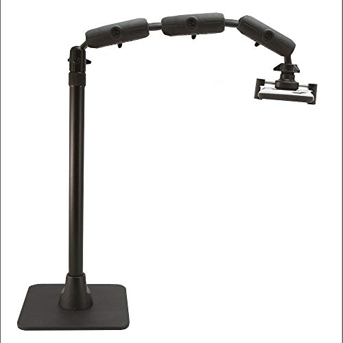Arkon Pro Phone Stand for Live Streaming Baking Crafting Stamping and Art or Tutorial Videos Black Retail - HD8RV29