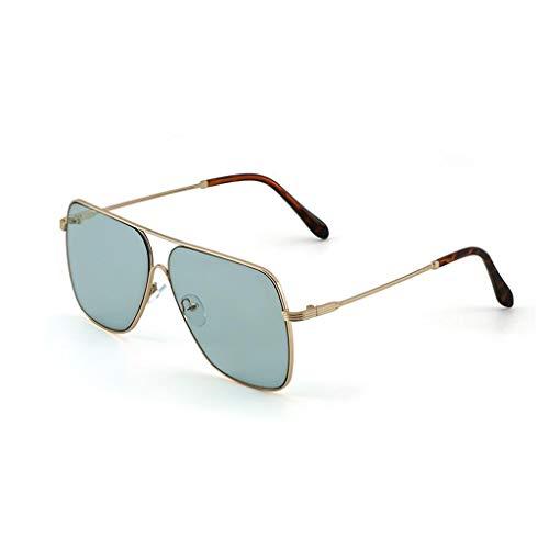 YIWU Brillen Retro Big Box Sonnenbrille Göttin Junge transparente Linse Sonnenbrille im Sommer Brillen & Zubehör (Color : Green)