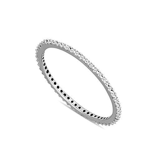 Natuurlijke Diamant Bruiloft Band Ring 1/8 cttw Diamanten ring Voor Vrouwen Echte Diamanten ring 9K Wit Goud GH-I2 Kwaliteit Natuurlijke Diamanten Ring