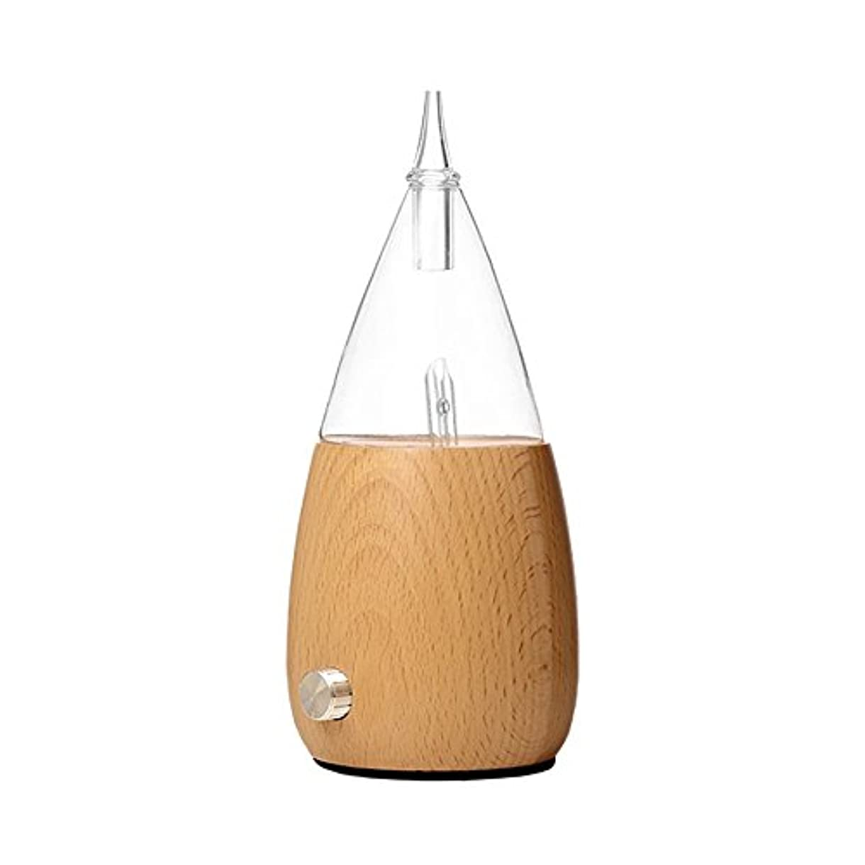 バタフライ青写真スポーツWaterless Essential Oil Nebulizer with Fast Difussion、超音波アロマテラピーFragrant Oil Vaporizer加湿器、自然と芸術的夜ライトギフトfor Friends in木製とガラス