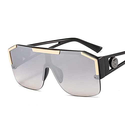 AMFG Gafas de sol decorativas de una pieza europeas y americanas gafas de deportes retro colorido al aire libre playa de viaje gafas de sol (Color : D)