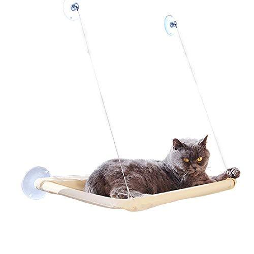 Ducomi SunnySeat - Amaca Gatto per Finestra con Ventose Forti e Resistenti (31 x 56 cm) Portata Massima 15 kg - novità 2020 - Facile Installazione (Amaca)