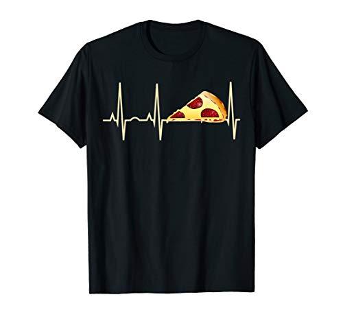 Pizza T-Shirt Lustig Pepperoni Pizza Herzschlag Shirt T-Shirt