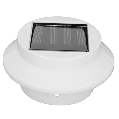 BOTEGRA Luces solares para canalones, Luces solares Recargables Impermeables Montaje Simple Aspecto Elegante Aleros Luz para Llevar canalones o Fijar en techos cercas de Madera