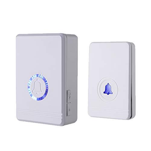 KCMYTONER 1 Set Wireless Smart Doorbell 433mhz Doorbell Best Long Distance Adjustable Volume 48 Chimes Funny Programmable Range Ring Small Wireless Doorbell with LED Flash Door Chime
